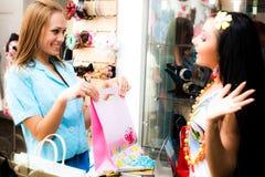 Vendedor e comprador Imagens de Stock