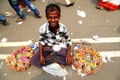 Vendedor en la celebración 1422 del Año Nuevo de Bangladesh Imagen de archivo libre de regalías