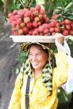 Vendedor en Sihanoukville imagen de archivo libre de regalías