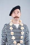 Vendedor francés del ajo Imagen de archivo