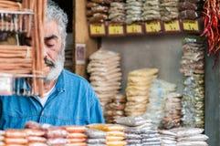 Vendedor grego da erva Imagem de Stock