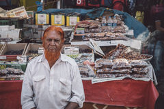 Vendedor indio Fotografía de archivo libre de regalías