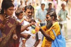 Vendedor indio del juguete Foto de archivo libre de regalías