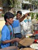Vendedor indio del mercado Imagen de archivo