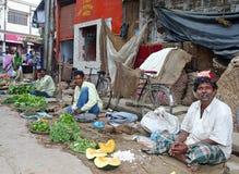 Vendedor indio del mercado Imagenes de archivo