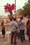 Vendedor indio en el lado del río Foto de archivo
