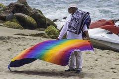 Vendedor na praia Fotografia de Stock