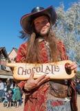 Vendedor no festival do renascimento do Arizona Fotografia de Stock Royalty Free