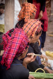 Vendedor que fuma Imagen de archivo