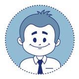 Vendedor sonriente del carácter Fotografía de archivo