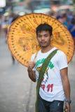 Vendedor tailandés del paraguas Fotos de archivo