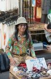Vendedor tailandês da hippie imagem de stock