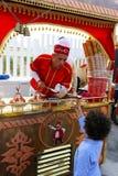 Vendedor turco del helado en Qatar Foto de archivo libre de regalías
