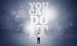 Vendedor usted puede hacerlo motivación Imagen de archivo libre de regalías