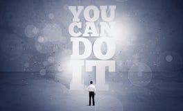Vendedor usted puede hacerlo motivación Imagen de archivo