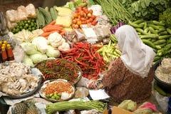 Vendedor vegetal foto de archivo libre de regalías