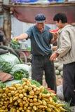 Vendedor vegetal asiático Imágenes de archivo libres de regalías