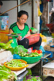 Vendedor vegetal, Vietnam Fotos de archivo libres de regalías