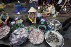 Vendedor Vietnam de los mariscos Imagen de archivo