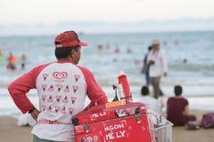 Vendedor vietnamita del helado Imágenes de archivo libres de regalías