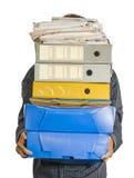 Vendedor y carpetas Imagen de archivo