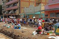 Vendedores ambulantes em África Foto de Stock