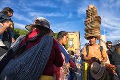 Vendedores ambulantes en México Imágenes de archivo libres de regalías