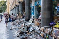 Vendedores ambulantes, Tbilisi, Georgia, Europa Imagen de archivo