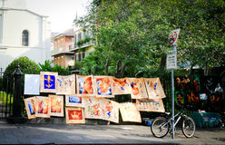 Vendedores da arte da rua de Nova Orleães imagem de stock royalty free