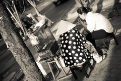 Vendedores de calle Fotos de archivo libres de regalías