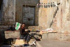 Vendedores de calle de verduras en la India Imagen de archivo