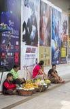 Vendedores de Steet, Hat Yai Foto de archivo libre de regalías