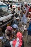 Vendedores del cuchillo en Yemen Fotos de archivo libres de regalías