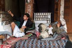 Vendedores del cuchillo en Yemen Foto de archivo libre de regalías