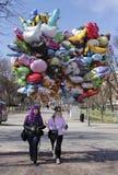 Vendedores do balão fotografia de stock