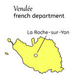 Vendee french department map Stock Image