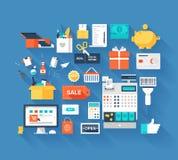 Vendendo ícones Imagem de Stock