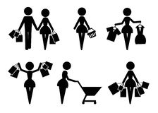 Vendendo ícones ilustração stock