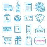 Vendendo ícones Imagens de Stock Royalty Free