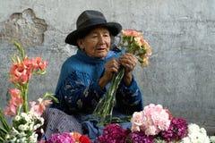 Vendendo flores Fotografia de Stock
