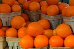 Vendendo laranjas de umbigo imagens de stock