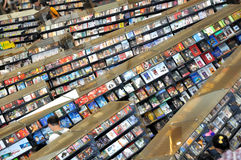 Vendendo o CD na loja Imagem de Stock