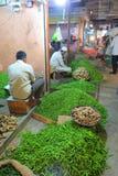 Vendendo o pimentão no mercado do KR em Bangalore Foto de Stock Royalty Free