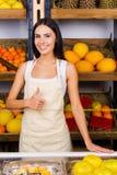 Vendendo os melhores frutos na cidade Imagem de Stock