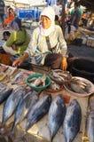 Vendendo peixes Imagens de Stock