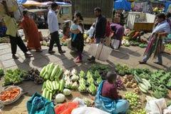 Vendendo vegetais no mercado do KR em Bangalore Fotos de Stock Royalty Free