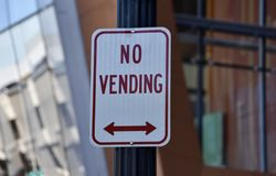 Vender proibido neste lugar fotografia de stock royalty free