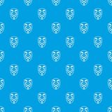 Vendetta mask pattern seamless blue Royalty Free Stock Image