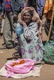 Vendeur d'épice en Ethiopie Image libre de droits