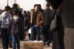 Vendeur d'enfant en Irak Images libres de droits